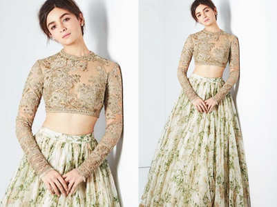 Alia Bhatt may choose a Sabyasachi wedding lehenga