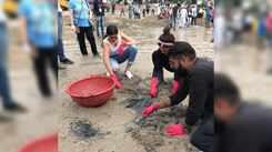 Naveli Deshmukh participated in Big Mumbai Clean-up