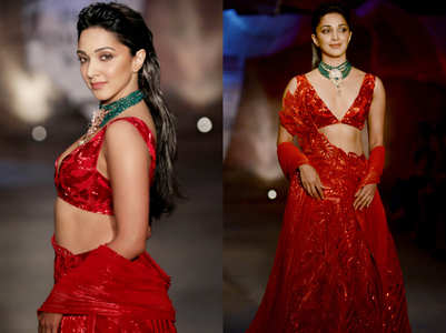 Kiara Advani's RED bridal lehenga pictures go viral