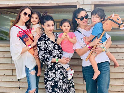 Pic: Taimur-Inaaya enjoy a day at the farm