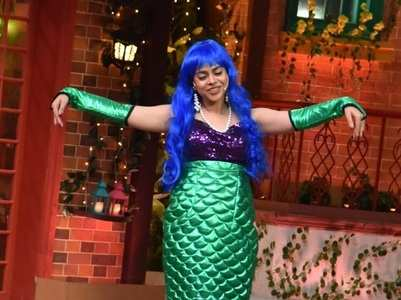 Sumona turns into a mermaid on TKSS