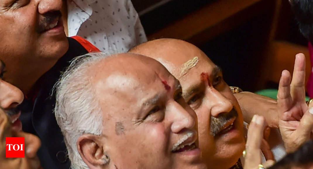 Will meet Karnataka governor after consulting PM Modi, Amit Shah: Yeddyurappa | India News - Times of India