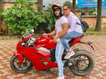 Dipika Kakar Ibrahim and Shoaib Ibrahim go on their first bike ride together