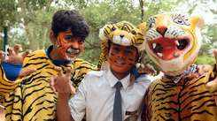 School kids join chorus to save #Telangana Tigers