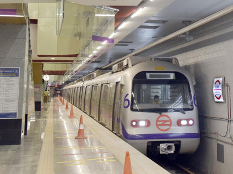 A file photo of a Delhi Metro train