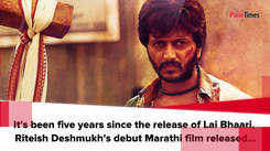 #5YearsOfLaiBhaari: Riteish Deshmukh remembers his Marathi debut