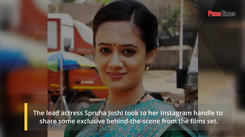 Spruha Joshi shares behind the scene pic from the sets of Baba