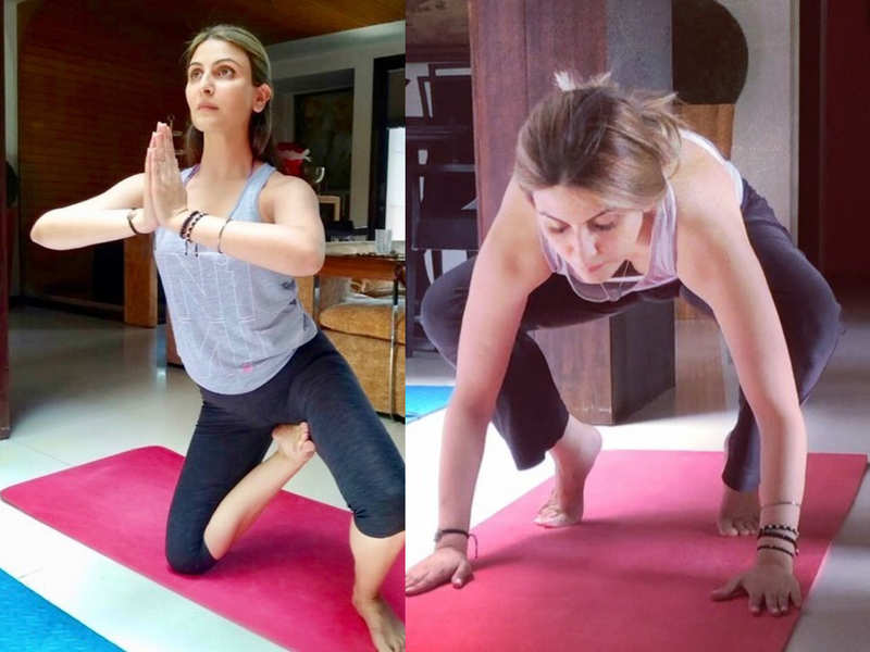 Riddhima Kapoor Sahni Shows her yoga practice at home