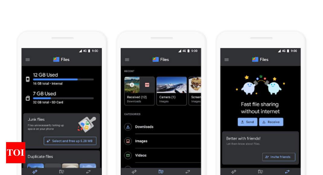 google files app dark mode: Files by Google app gets updated