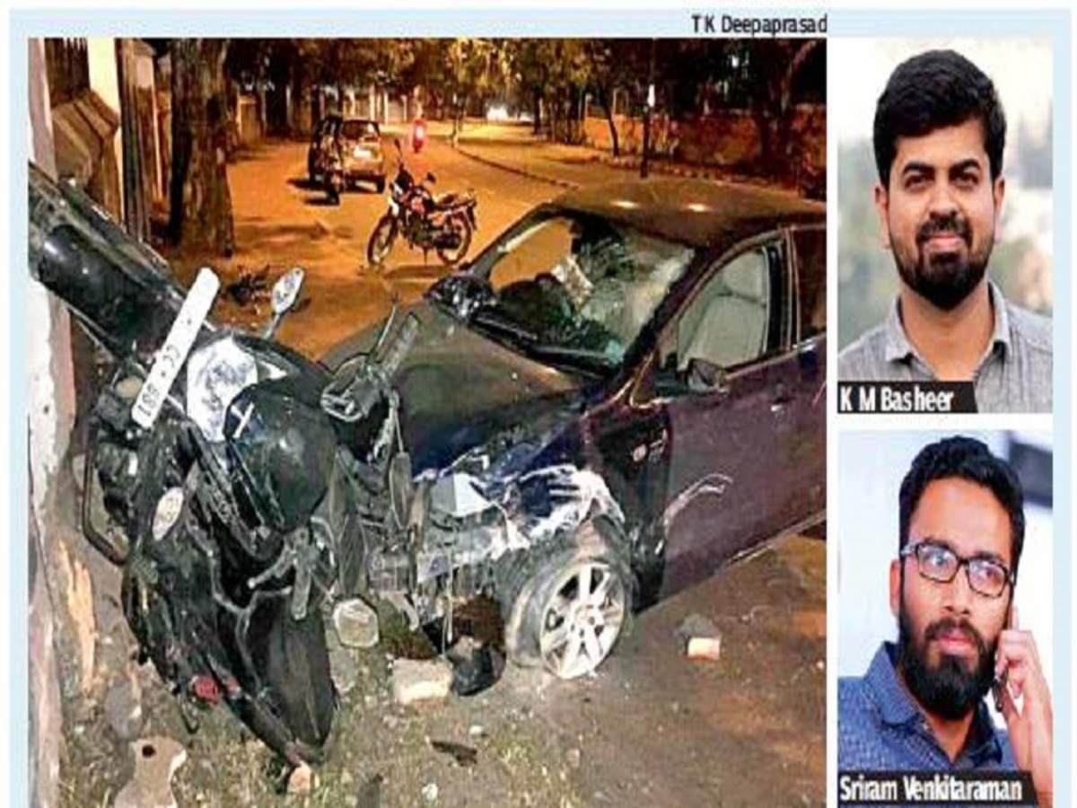 Ias Officer Sriram Venkitaraman Sloshed And Speeding Mows Down Young Journo Thiruvananthapuram News Times Of India