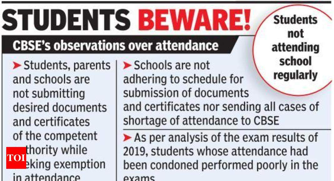 CBSE tightens attendance rules for Class 10, 12 students