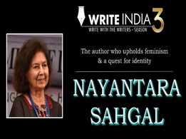 Write India: Write for Nayantara Sahgal