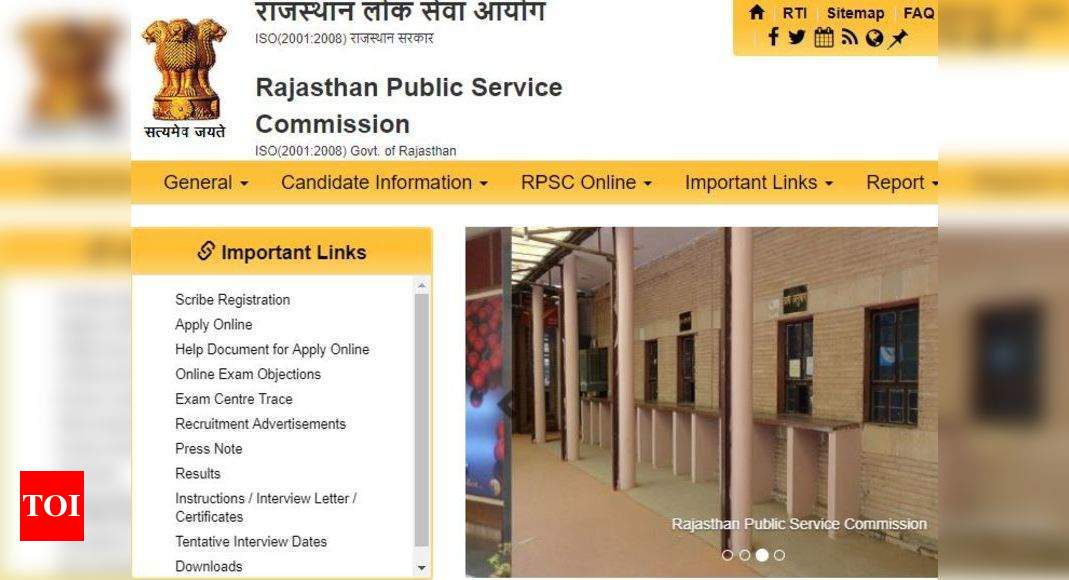 Rpsc Assistant Engineer Final Answer Key Released At Rpsc Rajasthan Gov In Times Of India