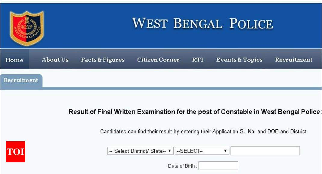 WBP Result: WBPRB announces West Bengal Police constable recruitment