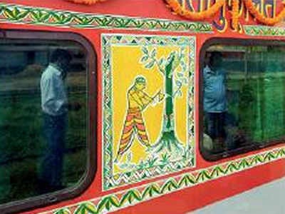 Seventh century Manjusha art finds its place on Indian Railways