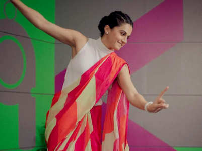 Taapsee Pannu just gave her sari a cool style twist!