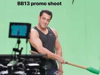 BB 13: Salman's BTS pic from promo shoot