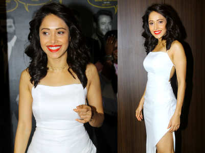 Nushrat Bharucha sizzles in a bodycon white dress