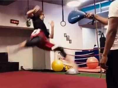 Watch: Disha Patani shares kickboxing video