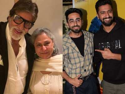 Vicky & Ayushmann get notes from Big B