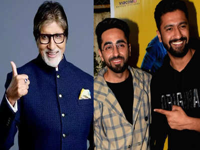 Ayushmann and Vicky Kaushal thank Big B