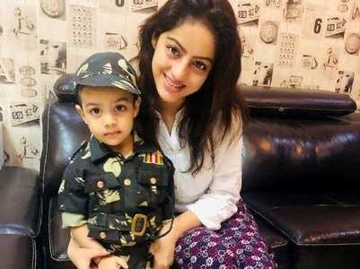 Deepika's son dresses up in Army uniform