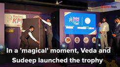 Sudeep launches the KPL Season 8 trophy