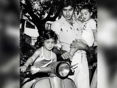 Big B shares throwback pics of Jr AB & Shweta