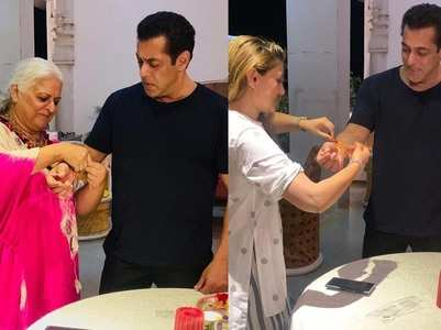 Salman celebrates Rakhi with Bina Kak & family