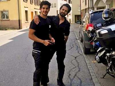 Ishaan shares Shahid's pic from their road trip