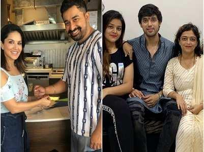 PICS: Sunny Leone ties rakhi to Rannvijay