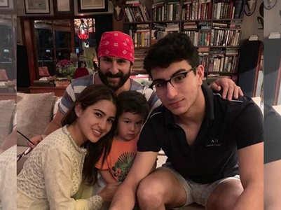 "Photo: Sara wishes ""Abba"" Saif on his bday"