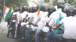 Amdavadis celebrated Independence Day with a bike rally