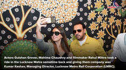 Gulshan Grover, Mahima Chaudhary go for a ride in Lucknow Metro
