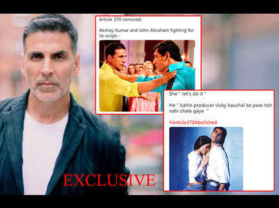 Akshay's reply for memes made on him & John