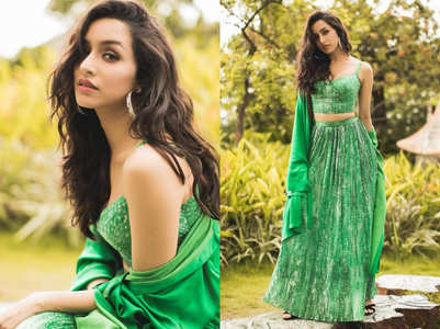 Shraddha's green lehenga is gorgeous