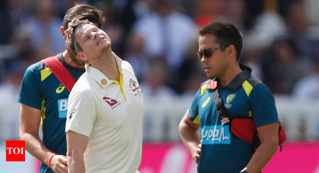Steve Smith ruled out of rest of second Ashes Test due to concussion