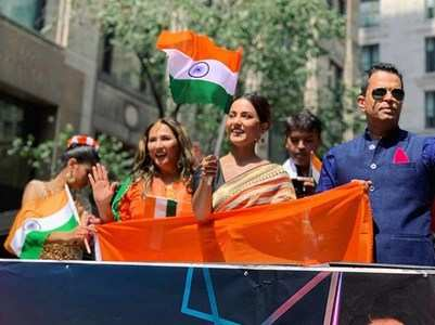 Hina first TV actress for ID Day parade in NYC