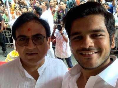 Dilip Joshi reunites with reel son Bhavya