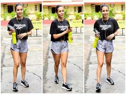 Malaika beats Monday blues by hitting gym