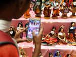 Ragini Dwivedi attends a doll exhibition