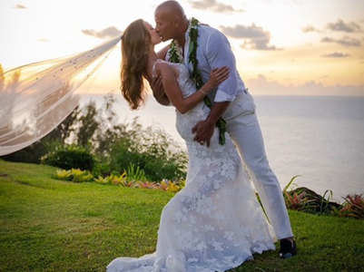 Pics from Dwayne-Lauren's intimate wedding