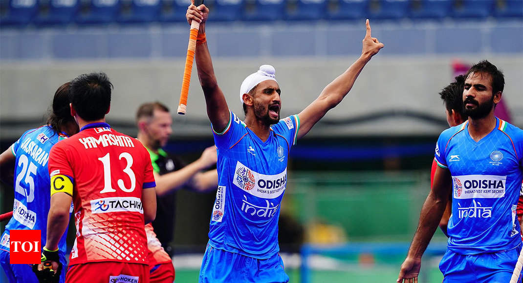 Mandeep hat-trick helps India beat Japan to reach Olympic Test Event final - Times of India thumbnail
