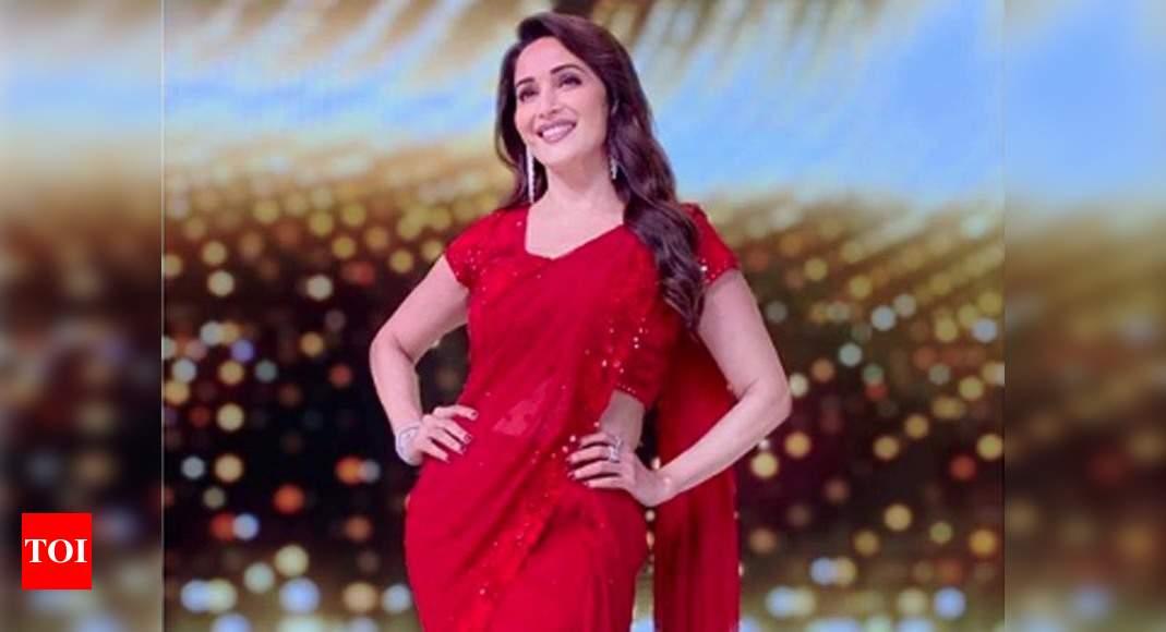 Madhuri Dixit Nene looks charming as she flaunts red saree | Hindi Movie  News - Times of India