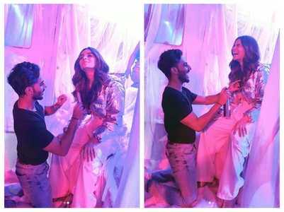 BTS pics of Alia from the shoot of 'Prada'