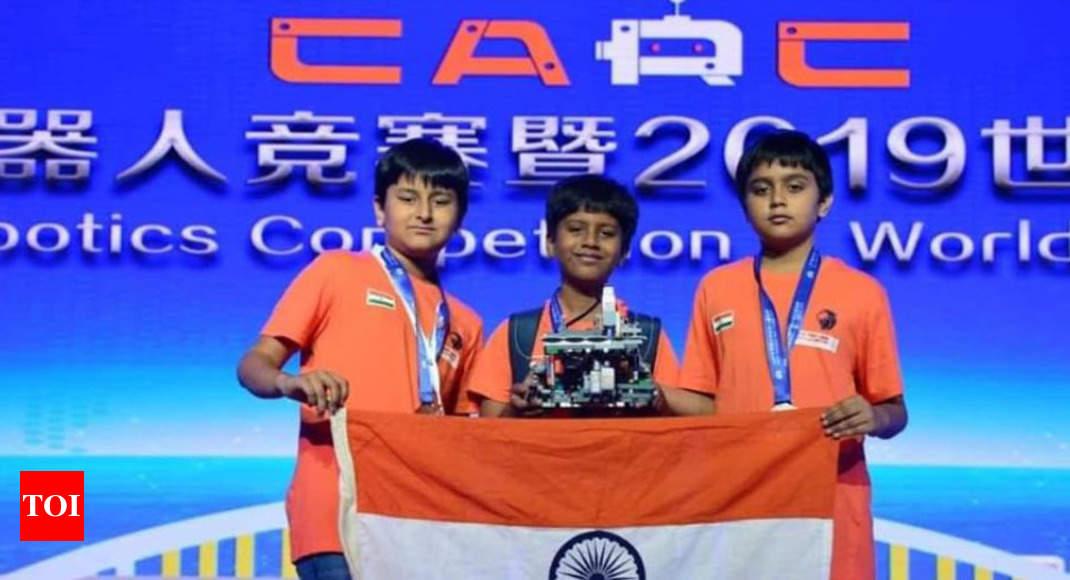3 Vadodara students bag silver at World Robotics