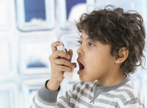 Children suffering asthma can use inhalers