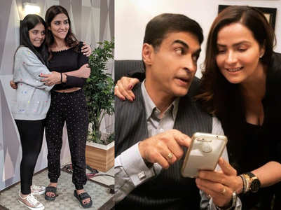Mohnish's daughters on Sanjivani 2 sets
