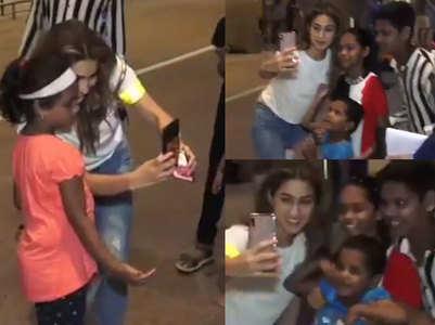 Sara's sweet gesture for her kiddie fans