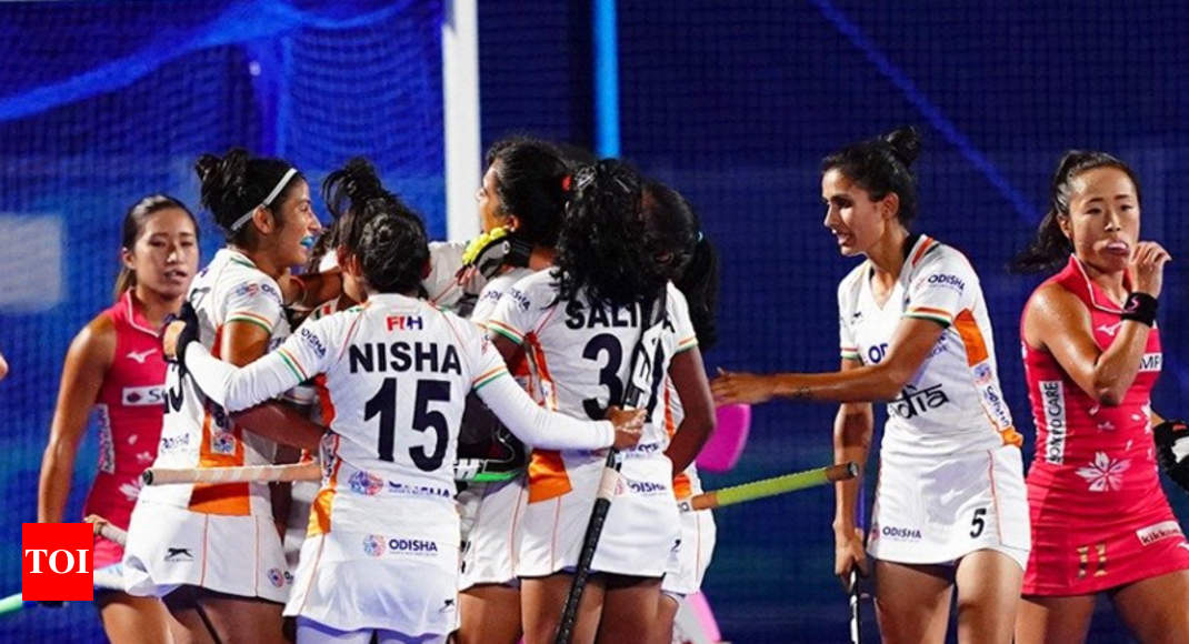 Indian women's hockey team beat Japan 2-1 to win Olympic test event